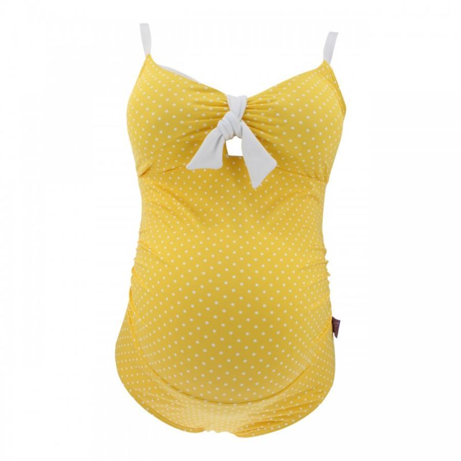 petit amour Těhotenské plavky Antonie žlutá