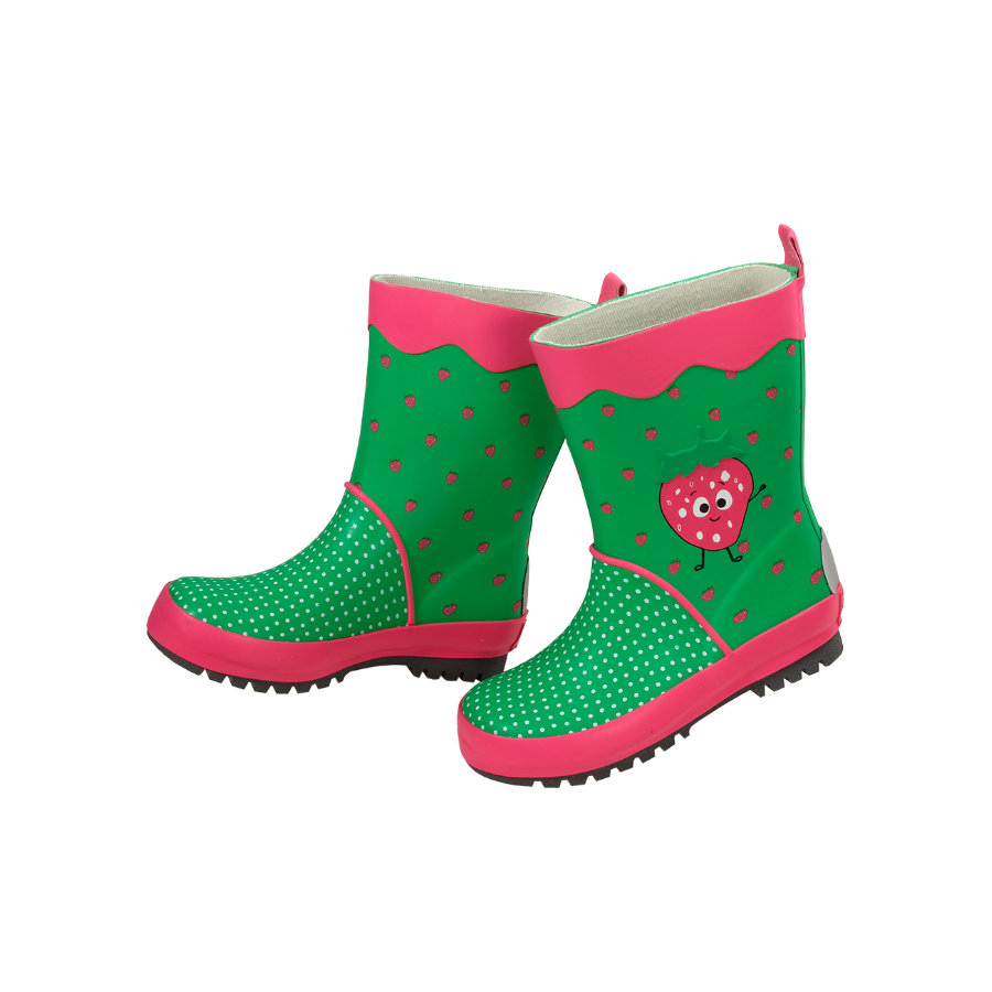 maximo Girl s bottes en caoutchouc fraise rose grenouille rose grenouille