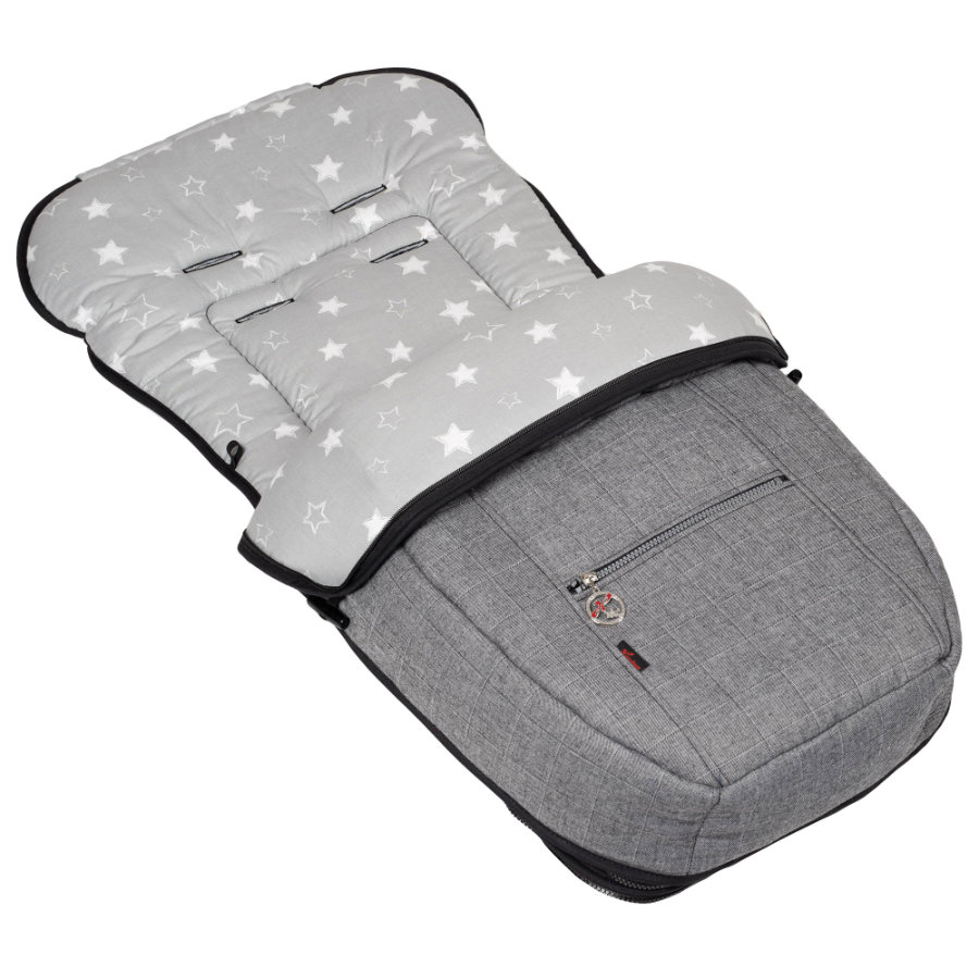 Hartan Fußsack Sommer/Winter Grey Star (606)