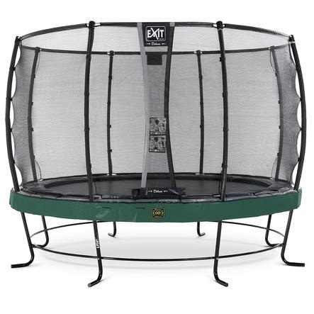 Trampolín Elegant Premium ø427cm EXIT con Deluxe red de seguridad - verde