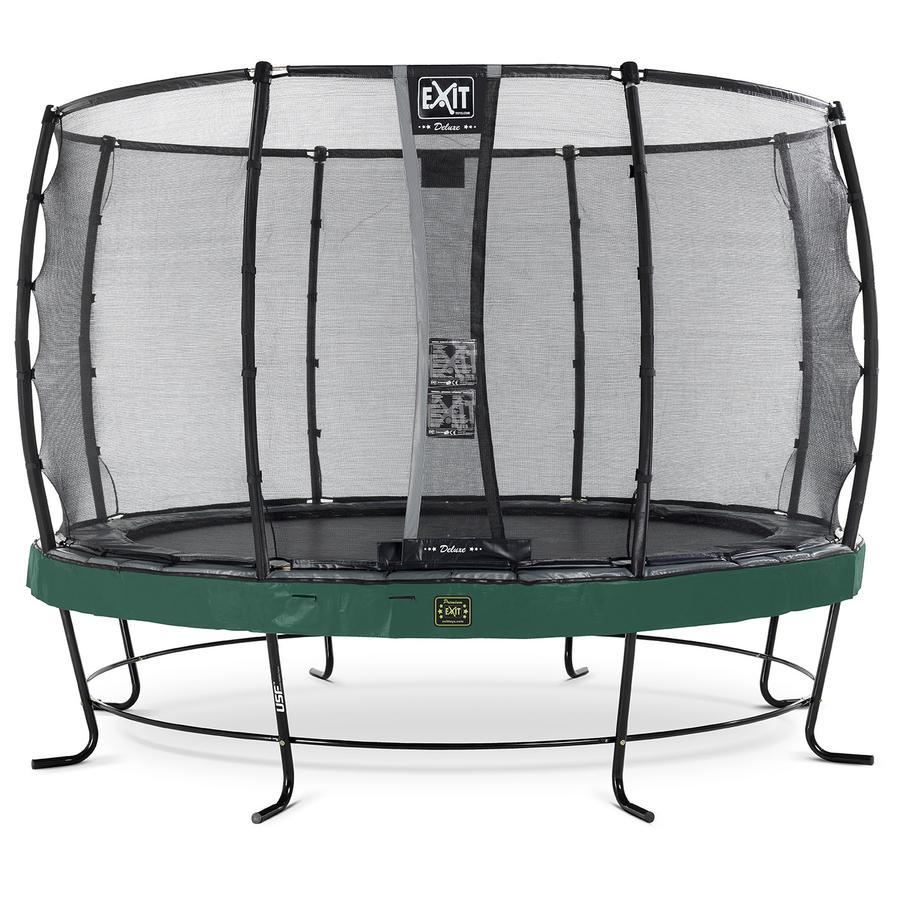 EXIT Elegant Premium trampoline ø427cm met Deluxe veiligheidsnet - groen