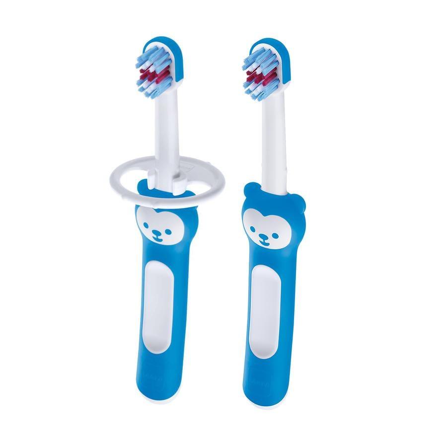 MAM Baby`s Brush 2 stuks blauw vanaf de geboorte