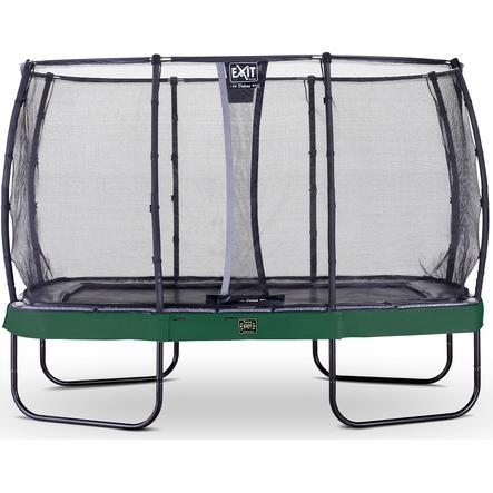 Trampolina EXIT Elegant Premium 214x366cm z Deluxe siatką zabezpieczającą - zielona