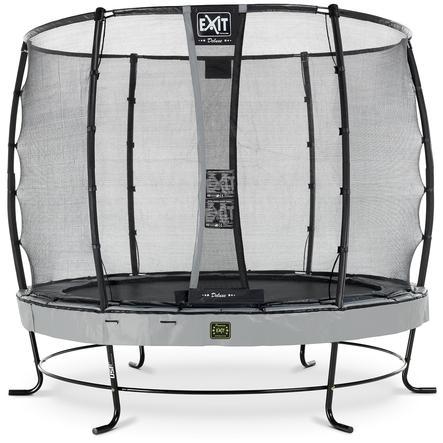 EXIT Trampolin Elegant Premium ø305cm mit Deluxe Sicherheitsnetz - grau