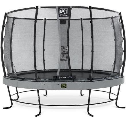 EXIT Elegant Premium trampoline ø427cm met Deluxe veiligheidsnet - grijs