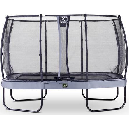 EXIT Trampolin Elegant Premium 244x427 cm med Deluxe sikkerhedsnet - grå