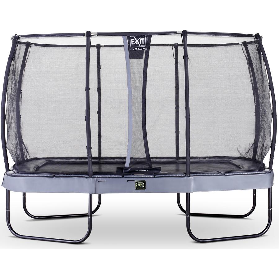 EXIT trampolína Elegant Premium 244x427cm s bezpečnostní sítí Deluxe - šedá