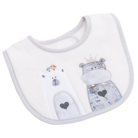 BeBes Collection Bavoir bébé autoagrippant mini Odi&Bodi écru