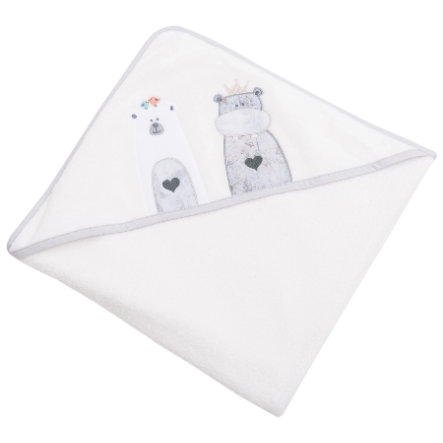 BeBes Collection Serviette bain enfant capuche Odi&Bodi écru 100x100 cm