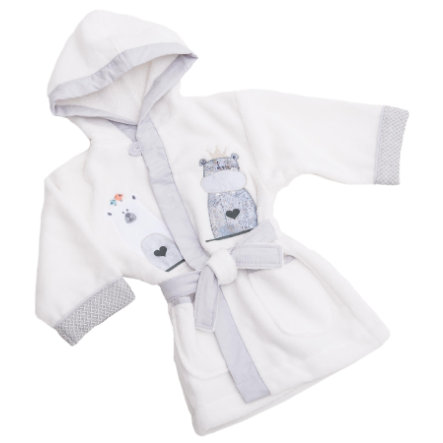 BeBes Collection Peignoir de bain enfant Odi & Bodi écru T. 92/98