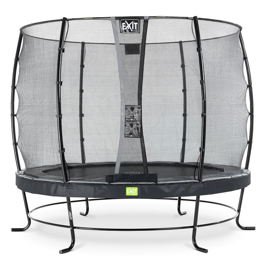 Trampolino Elegant ø253cm EXIT con rete di sicurezza Economy - schwa rz
