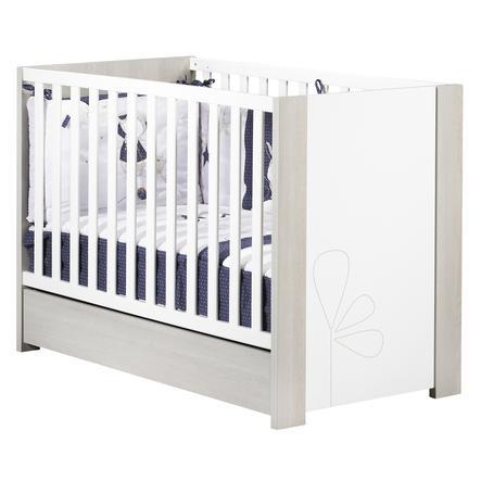 Sauthon Lit enfant à barreaux little big bed New Opale décor blanc 60x120 cm