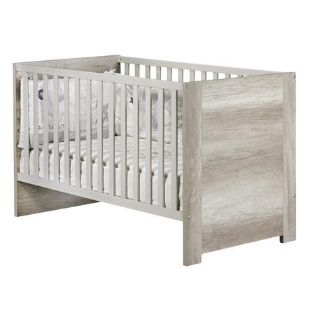 Sauthon Lit enfant à barreaux little big bed Emmy beige cendré 70x140 cm
