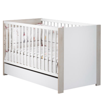 Sauthon Lit enfant à barreaux little big bed Tipee pin blanc 70x140 cm