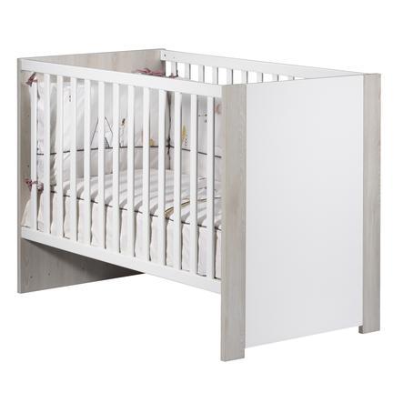 Sauthon Lit enfant à barreaux Tipee hêtre blanc 60x120 cm