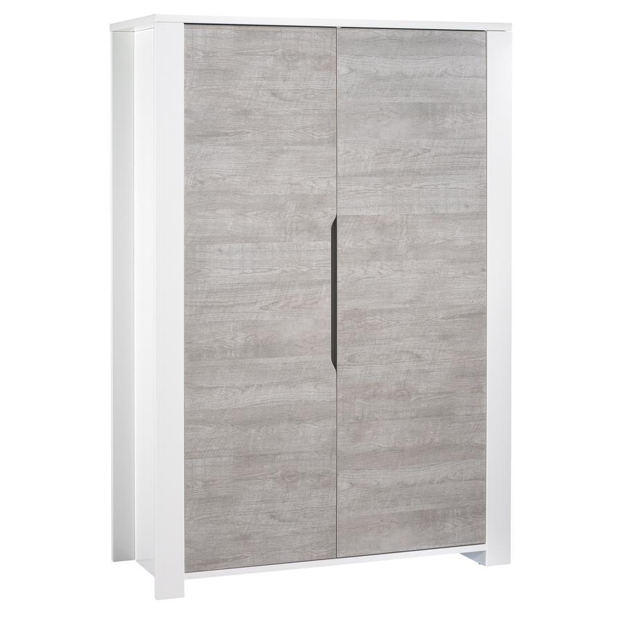 Sauthon Armoire enfant 2 portes Loft bois blanc