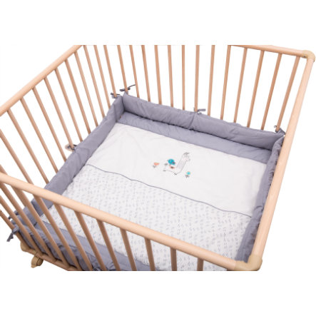 Be Be's Collection Playpen Lama šedá