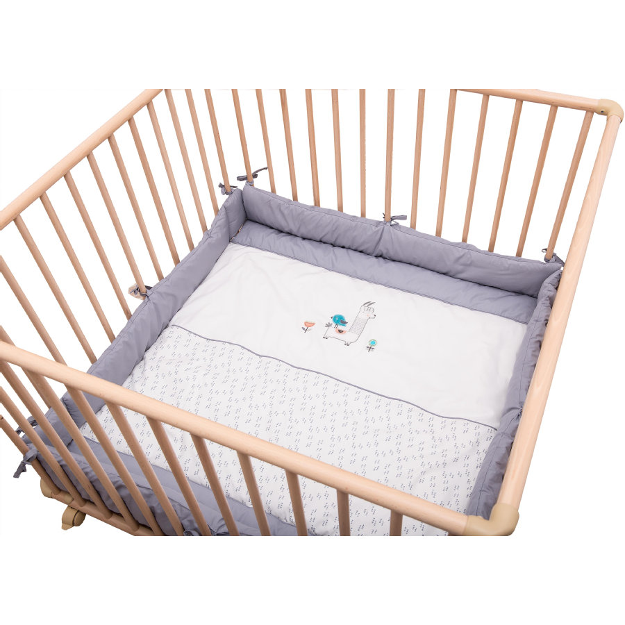 Be Be Be 's Collection Playpen Lama gris