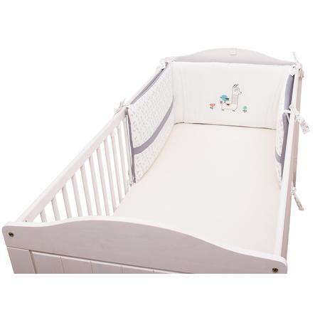 BeBes Collection Tour de lit enfant lama gris 40x190 cm