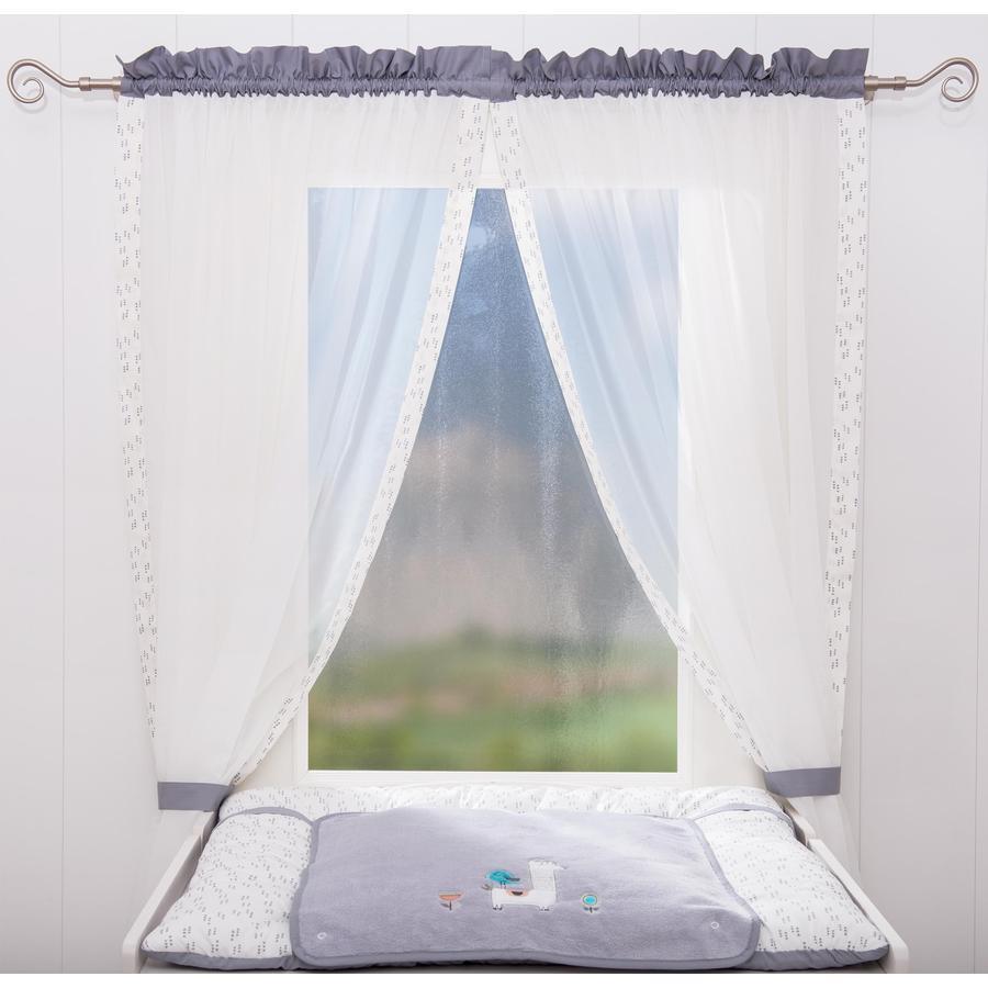 BeBes Collection Rideaux De Chambre Enfant Lama Gris 100x240 Cm