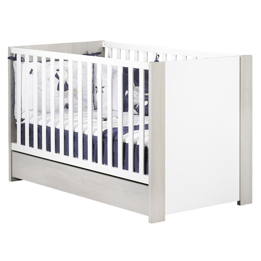 Sauthon Lit enfant à barreaux little big bed New Opale blanc 70x140 cm