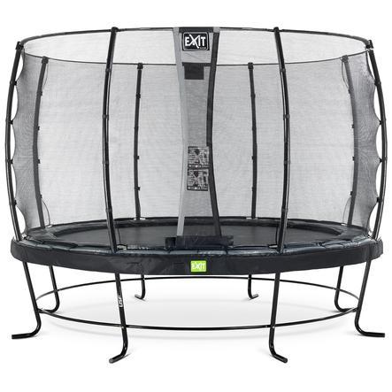 EXIT trampoliini Elegant ø 427 cm Economy-turvaverkolla - musta