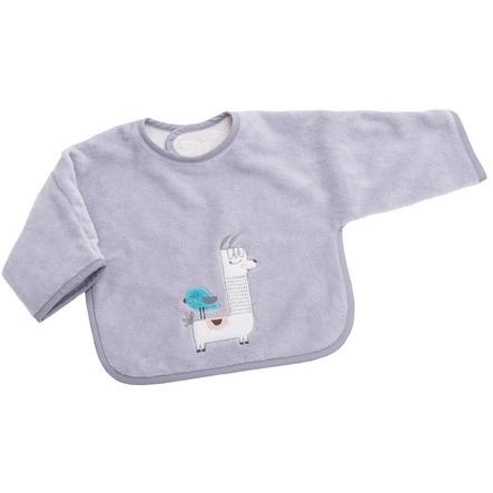 BeBes Collection Bavoir bébé à scratch manches lama gris