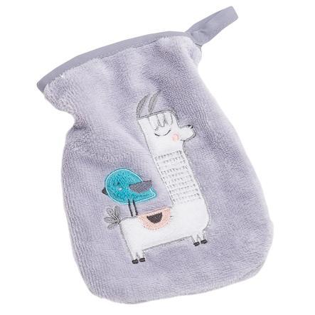 BeBes Collection Gant toilette enfant lama gris