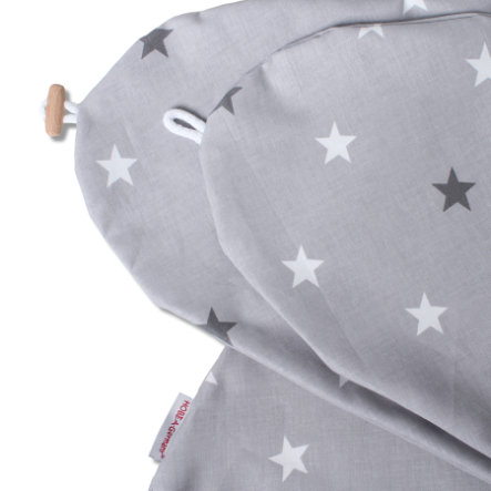 HOBEA-Germany Stillkissenbezug Sternenmuster grau