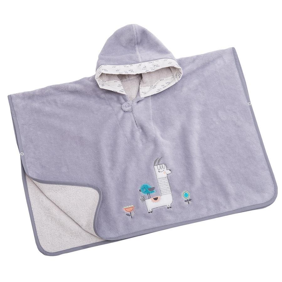 Be Be 's Collection Badhandduk med huva Lama grå