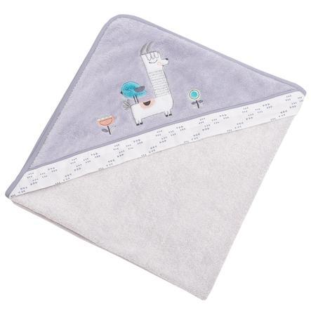 Toalla de baño con capucha Collection Be Be Žs Lama gris 100 x 100 cm
