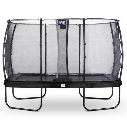 EXIT trampolino Elegant 244x427cm con rete di sicurezza Economy - schwa rz