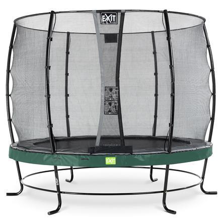 EXIT trampolína Elegantní ø253cm s bezpečnostní bezpečnostní sítí - zelená