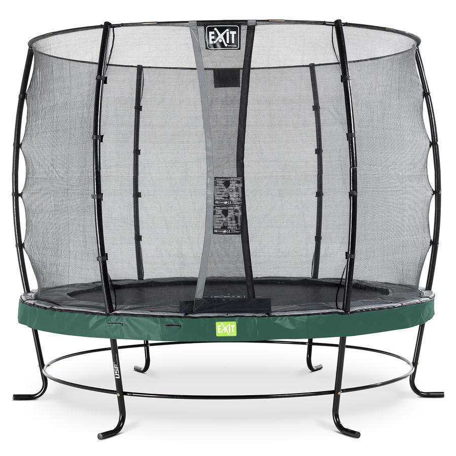 EXIT trampoliini Elegant ø 253 cm Economy-turvaverkolla - vihreä