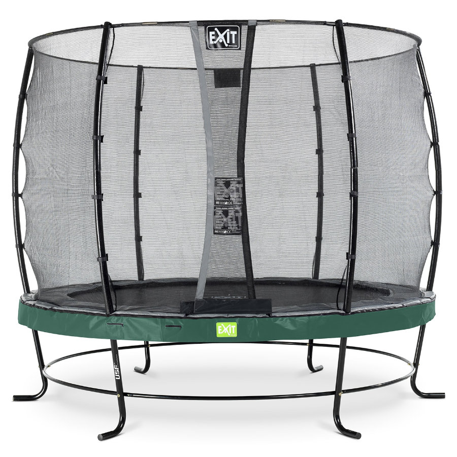 EXIT Trampolino Elegant ø253cm con rete di sicurezza Economy – verde