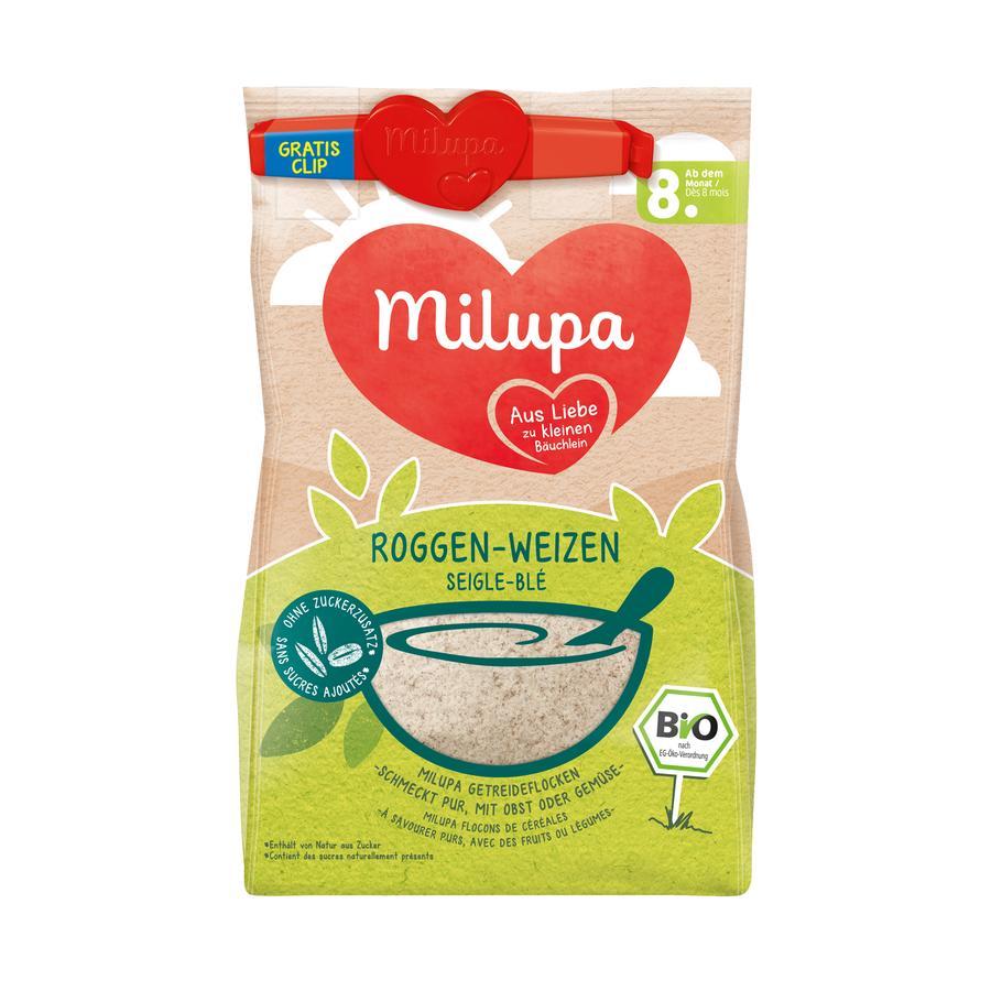 Milupa Getreidebrei Roggen-Weizen 180 g  ab dem 8. Monat + Clip