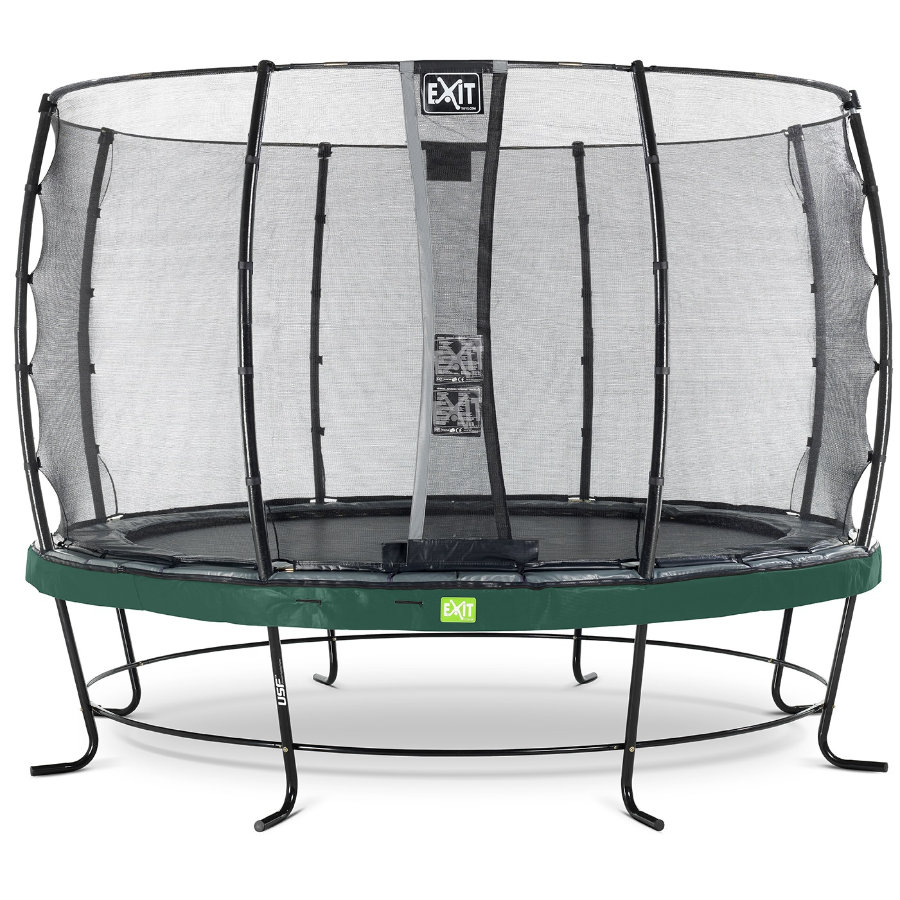 EXIT Elegant trampoline ø427cm met Economy veiligheidsnet - groen