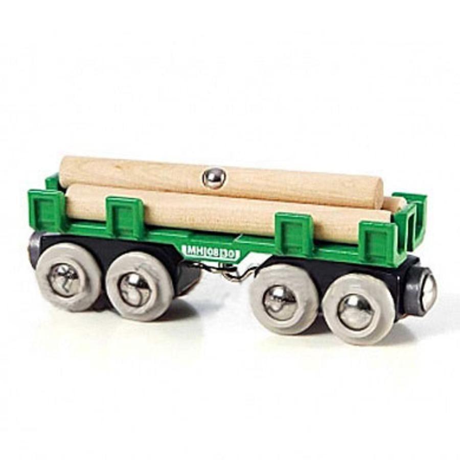 BRIO® WORLD tømmervogn med tømmer 33696