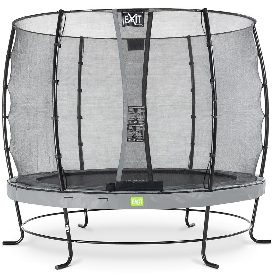 Trampolino Elegant ø253cm EXIT con rete di sicurezza Economy - grigio