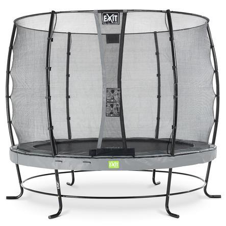 EXIT Elegant trampoline ø305cm met Economy veiligheidsnet - grijs