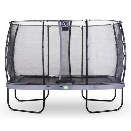 EXIT trampolino Elegant 214x366cm con rete di sicurezza Economy - grigio