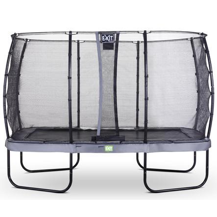 EXIT Elegant trampoline 244x427cm met Economy veiligheidsnet - grijs