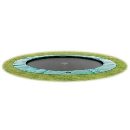EXIT - Inground Trampolina Supreme GroundLevel 366 (12ft) zielony + siatka bezpieczeństwa