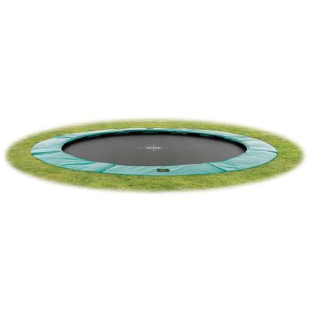 EXIT Trampoline de sol enfant Supreme GroundLevel filet vert Ø 427 cm