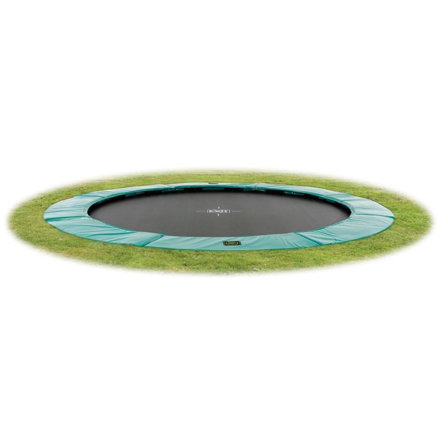 EXIT - Inground Trampolina Supreme GroundLevel 427 (14ft) zielony + siatka bezpieczeństwa