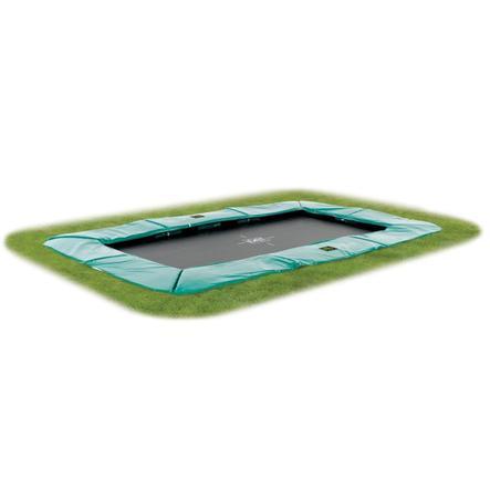 EXIT Inground-Trampolin Supreme GroundLevel 214x366cm (7x12ft) Grøn + sikkerhedsnet