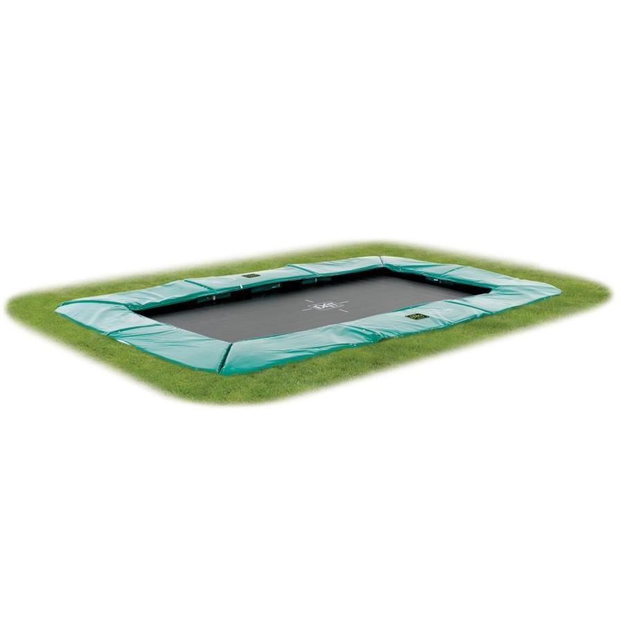 EXIT - Inground Trampolina Supreme GroundLevel 214x366cm (7x12ft) zielony + siatka bezpieczeństwa