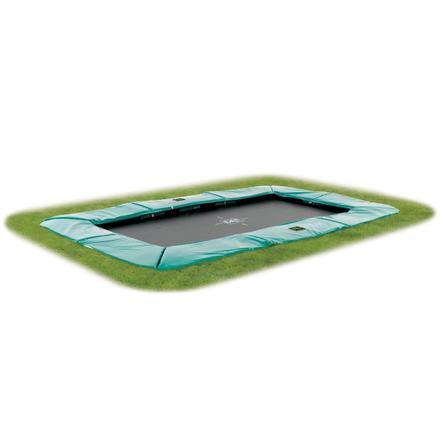 EXIT - Inground Trampolina Supreme GroundLevel 244x427cm (7x12ft) zielony + siatka bezpieczeństwa