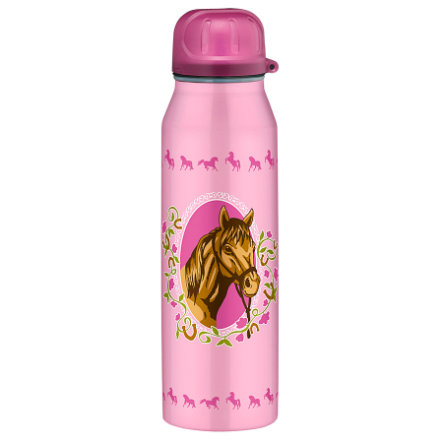 ALFI Trinkflasche isoBottle aus Edelstahl 0,5 l Design Pferde, rosa