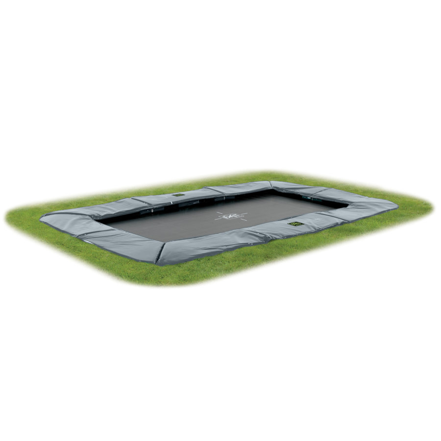 EXIT Trampoline de sol Supreme GroundLevel filet gris 244x427 cm